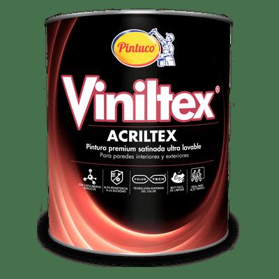 Pintura Viniltex Acriltex Blanco Cuarto de galon-Blanco